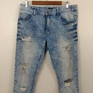 WT02 Distressed Mens Fashion Jeans